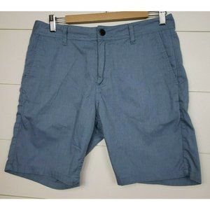Katin Size 31 Court Shorts Blue Cotton Twill Blend